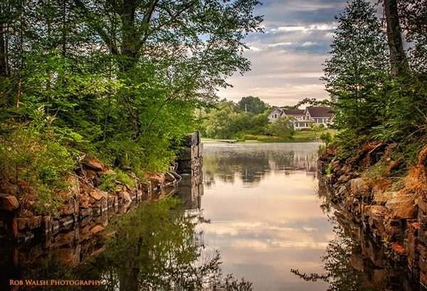 Photo of Lock 6 in the summer. Enfield, Nova Scotia