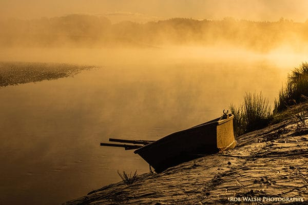 Photo of a small boat along the Stewiacke River